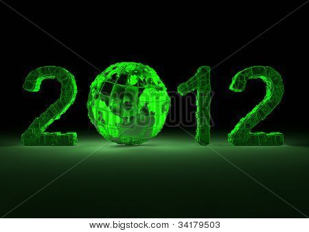 Futuristic 2012 with the planet