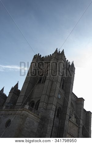 Gothic Bell Tower Of The Cathedral At Ávila