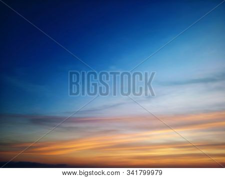 Blurry Background. Beautiful Sky Colors View. Sky At Magic Hours Background. Colorful Sky Background