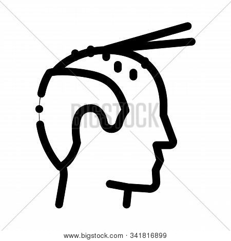 Hair Extension Icon Vector. Outline Hair Extension Sign. Isolated Contour Symbol Illustration