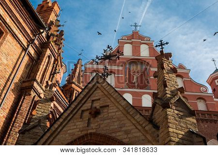 St. Anne's Church And Church Of St. Francis And Bernadine Ensemble In Vilnius
