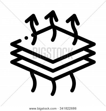 Breathable Layers Icon Vector. Outline Breathable Layers Sign. Isolated Contour Symbol Illustration
