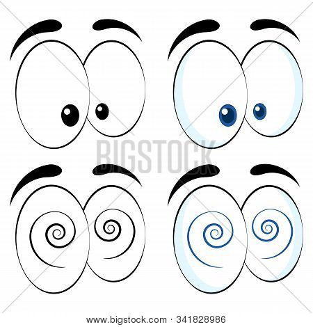 Colorful  Eyes. Vector Isolated Illustration On White Background