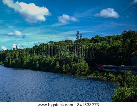 Countless Lakes By The Algoma Rail Road, On, Canada