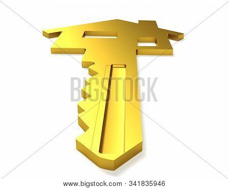 3d Rendering Of A House Key Locking, Unlocking, Cgi, Casa, Llave, Sleutel