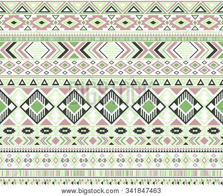 Sacral Tribal Ethnic Motifs Geometric Vector Background. Cute Gypsy Tribal Motifs Clothing Fabric Te