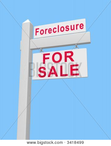 For Sale Foreclosure Sign