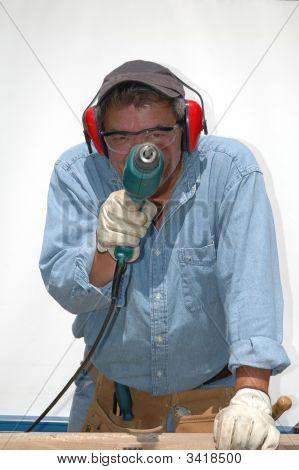 Mature Blue Collar Worker