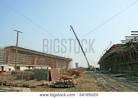 Overpass Construction Site