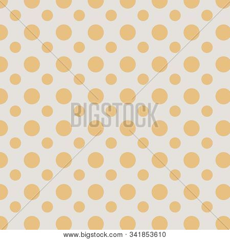 Orange And Ecru Polka Dot Background With Medium And Smaller Sized Circular Dots.  12x12 Graphic Res
