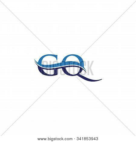 Gq Letter Type Logo Design Vector Template. Abstract Letter Gq Logo Design
