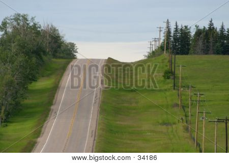 Empty Rural Highway