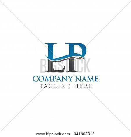 Initial Lp Letter Logo Design Vector Template. Abstract Letter Lp Logo Design