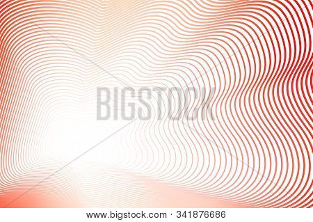 Squiggly Lines Of Red Hues. Vector Colored Wavy Frame. Abstract Striped Background With Copy Space.