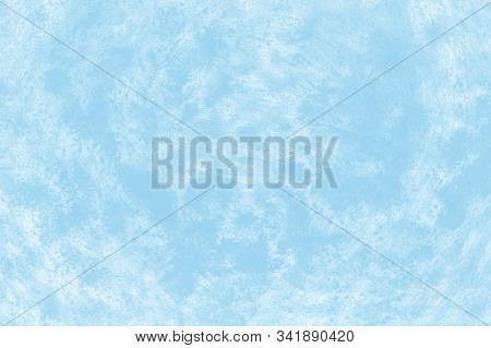 Soft Pale Blue And White Patchy Background. Ceramic Abstract Background