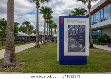 Orlando,fl/usa-11/16/19:  The Exterior Of The United States Tennis Association Usta  Building In Orl