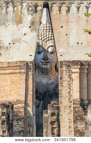 Large Buddha Image In Wat Srichum, The Buddhist Temple In Sukhothai Historical Park, Thailand