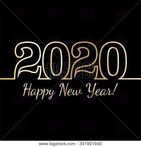 Luxxury Card Of A Happy New Year 2020 - Vector Illustration Design
