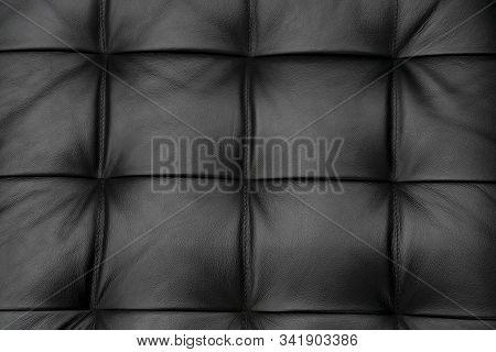 Texture Black Leather Image Photo