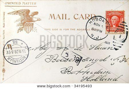 amerikanische Ansichtskarte 1908