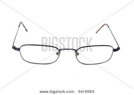 eyeglasses which are isolated on white backround. poster