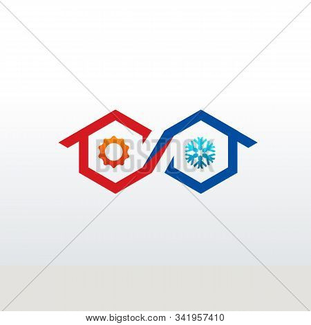 Heat And Cooling Logo