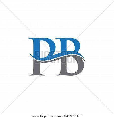 Swoosh Letter Pb Logo Design Vector Template. Water Wave Pb Logo Vector.