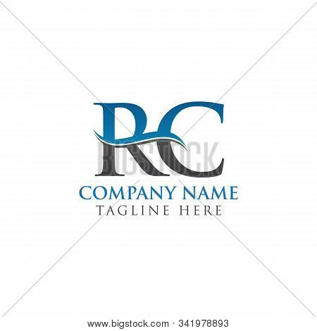 Swoosh Letter Rc Logo Design Vector Template. Water Wave Rc Logo Vector.