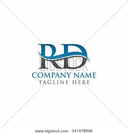 Swoosh Letter Rd Logo Design Vector Template. Water Wave Rd Logo Vector.