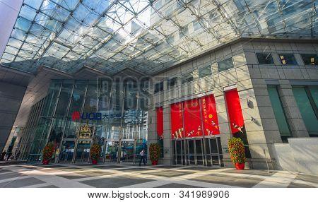 Singapore - Feb 9, 2018. Building Of United Overseas Bank (uob). Uob Is A Major Banking Organisation