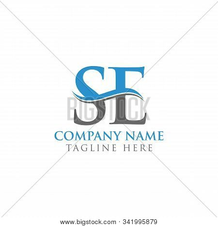 Swoosh Letter Se Logo Design Vector Template. Water Wave Se Logo Vector.