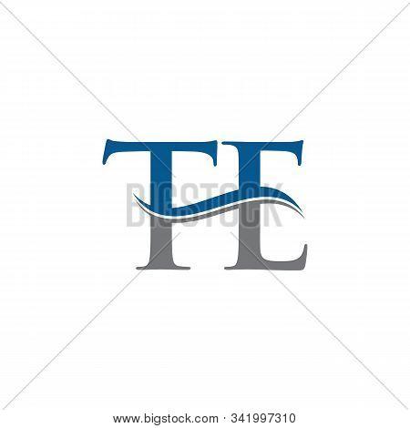 Swoosh Letter Te Logo Design Vector Template. Water Wave Te Logo Vector.
