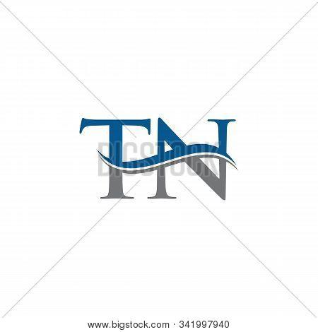 Swoosh Letter Tn Logo Design Vector Template. Water Wave Tn Logo Vector.