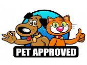 Pet Approved Seal, Mark, Emblem poster
