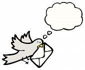 cartoon pigeon post poster