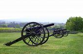 civil war cannon at gettysburg, pa battlefield poster