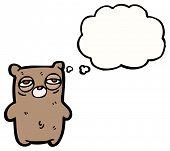 cartoon sleepy bear poster