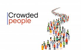 Vector People Group Crowd Social Team Large Person Together People Network Communication