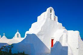 Church Of Panagia Paraportiani On Mykonos Island In Greece
