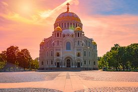 The Naval Cathedral Of Saint Nicholas In Kronstadt Is A Russian Orthodox Cathedral Built In 1903-191