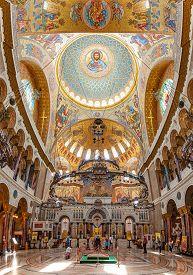Saint Kronstadt, Russia - June 22, 2015: The Naval Cathedral Of Saint Nicholas In Kronstadt Is A Rus