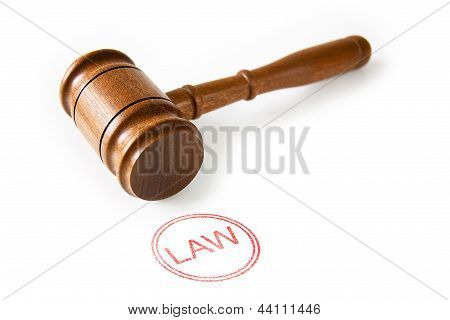 Gavel & Red Law Stamp