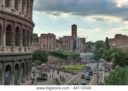 Rome, Italy - September 15: The Colosseum or Flavian Amphitheater September 15, 2012 in Rome, Italy.