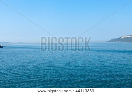The crossing through the strait of Dardanelles from Asia to Europe