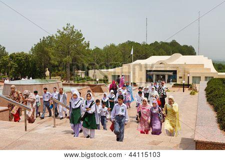 Schoolchildren At The Pakistan Monument, Islamabad