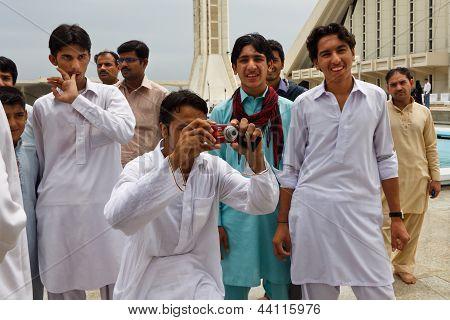 Pakistan Men At Faisal Mosque, Islamabad