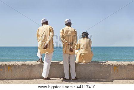 Three Hindu Clerics Waitng Time Pass