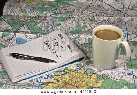 Map And Note Pad