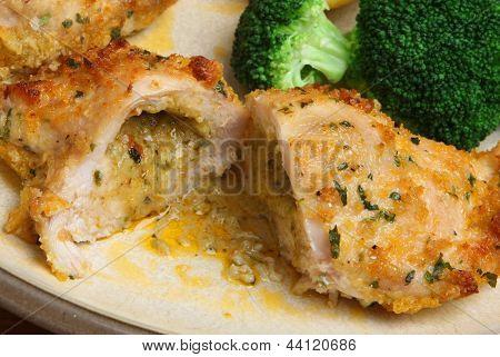 Chicken Kiev breast stuffed with garlic butter