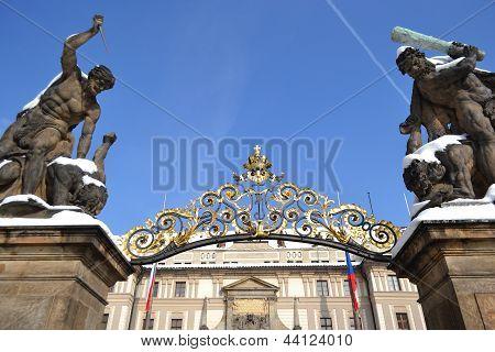 Entrance Of Prague Castle